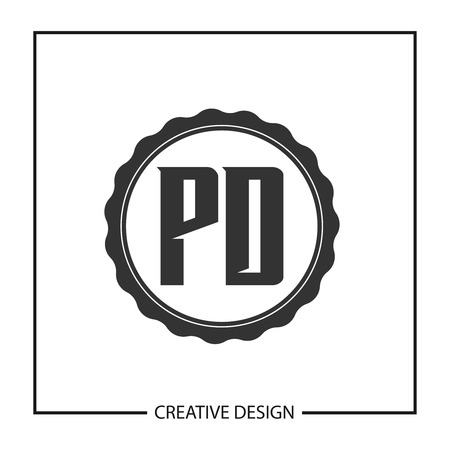 Initial Letter PD Logo Template Design Vector Illustration