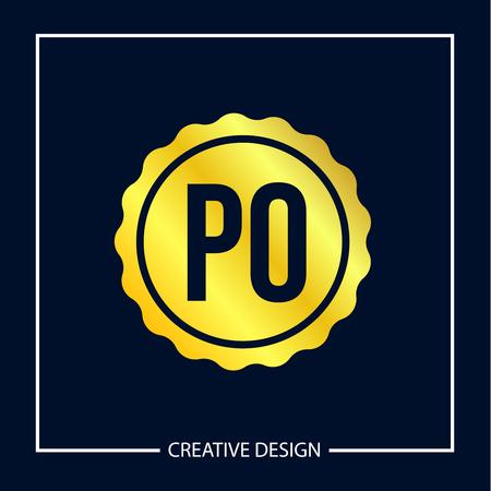 Initial Letter PO Logo Template Design Banco de Imagens - 112930242