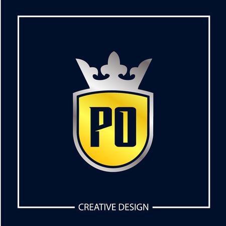 Initial Letter PO Logo Template Design Banco de Imagens - 112930121