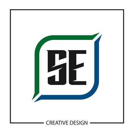 Initial Letter SE Logo Template Design