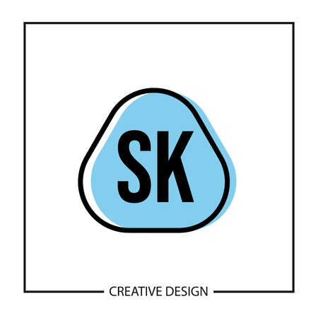 Initial Letter SK Logo Template Design