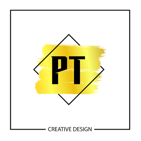 Initial Letter PT Logo Template Design