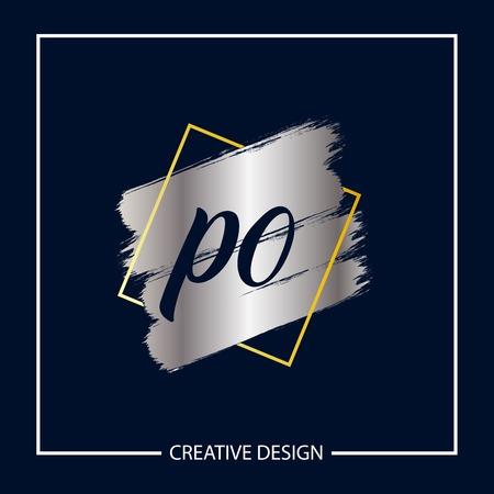 Initial Letter PO Logo Template Design Banco de Imagens - 112929804