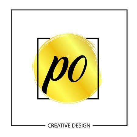 Initial Letter PO Logo Template Design Banco de Imagens - 112929519