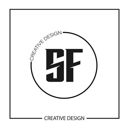 Initial Letter SF Logo Template Design Ilustração