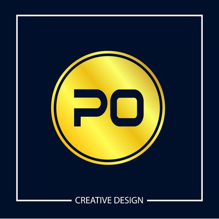 Initial Letter PO Logo Template Design Banco de Imagens - 112929464