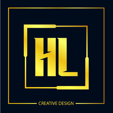Initial Letter HL Logo Template Design Vector Illustrator