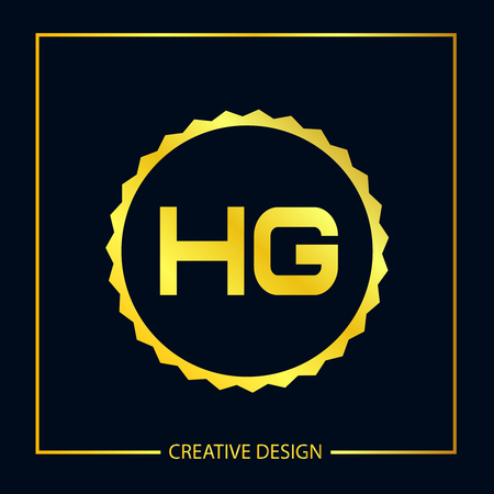 Initial Letter HG Logo Template Design Vector Illustrator