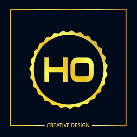Initial Letter HO Logo Template Design Vector Illustrator Logo