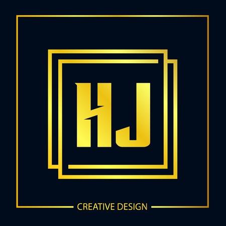 Initial Letter HJ Logo Template Design Vector Illustrator Logó