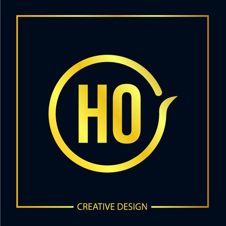 Initial Letter HO Logo Template Design Vector Illustrator