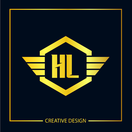 Initial Letter HL Logo Template Design Vector Illustrator Logo