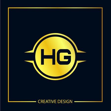 Initial Letter HG Logo Template Design Vector Illustrator
