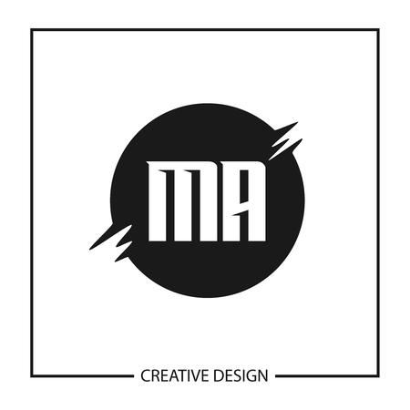 Initial Letter MA Logo Template Design Vector Illustration Logo