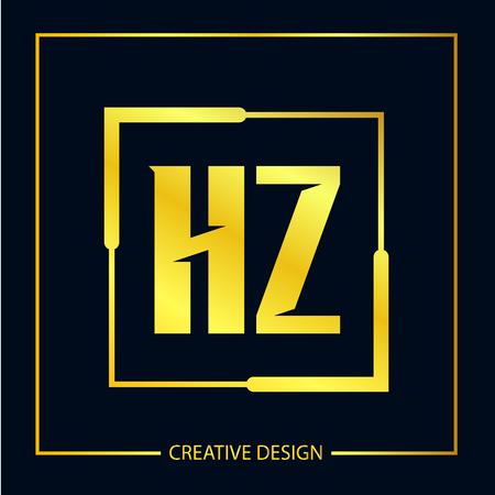Initial Letter HZ Logo Template Design Vector Illustrator