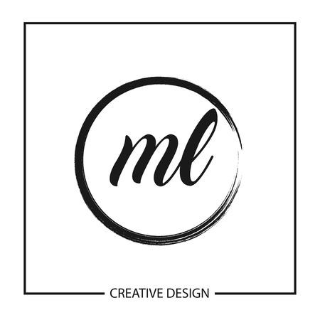 Początkowa litera ML Logo szablon projektu ilustracji wektorowych