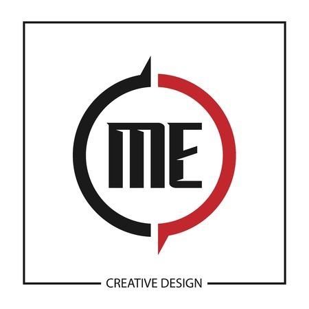 Initial Letter ME Logo Template Design Vector Illustration