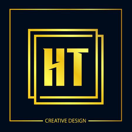 Initial Letter HT Logo Template Design Vector Illustrator