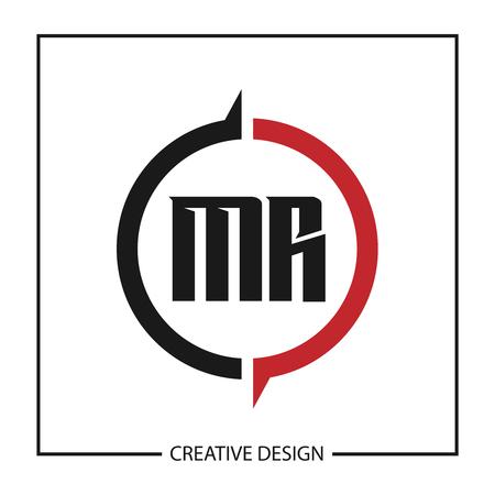 Initial Letter MR Logo Template Design Vector Illustration