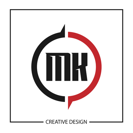 Initial Letter MK Logo Template Design Vector Illustration