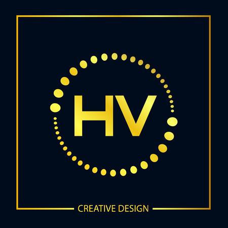 Initial Letter HV Logo Template Design Vector Illustrator Logó