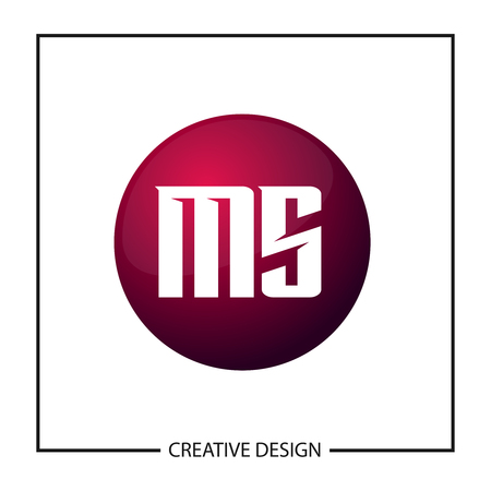 Initial Letter MS Logo Template Design Vector Illustration