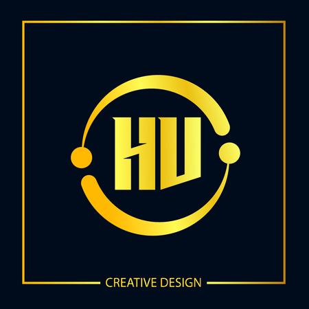 Initial Letter HV Logo Template Design Vector Illustrator