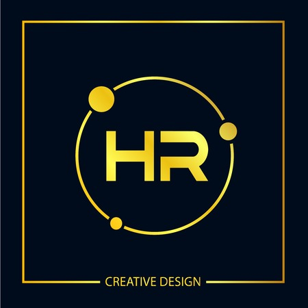 Initial Letter HR Logo Template Design Vector Illustrator