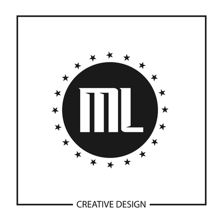 Initial Letter ML Logo Template Design Vector Illustration Vectores