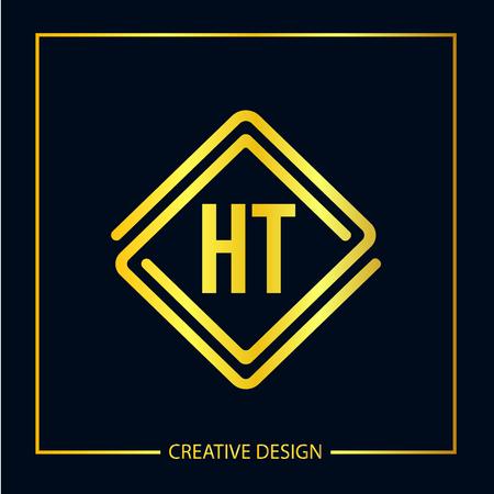 Initial Letter HT Logo Template Design Vector Illustrator Logó
