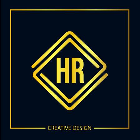 Initial Letter HR Logo Template Design Vector Illustrator Logó