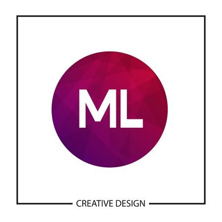 Initial Letter ML Logo Template Design Vector Illustration Illusztráció