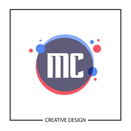 Initial Letter MC Logo Template Design Vector Illustration Reklamní fotografie - 112998450