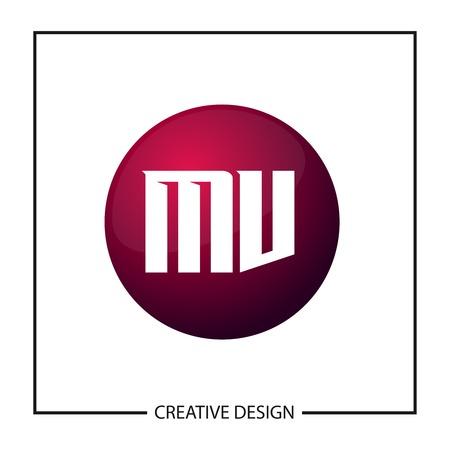 Initial Letter MV Logo Template Design Vector Illustration