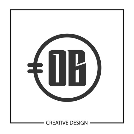 Initial Letter OB Logo Template Design Vector Illustration 向量圖像