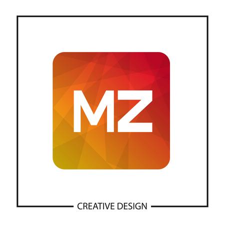 Initial Letter MZ Logo Template Design Vector Illustration Stok Fotoğraf - 112999133