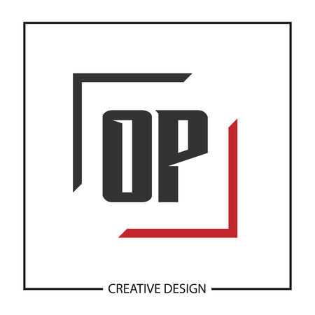 Initial Letter OP Logo Template Design Vector Illustration