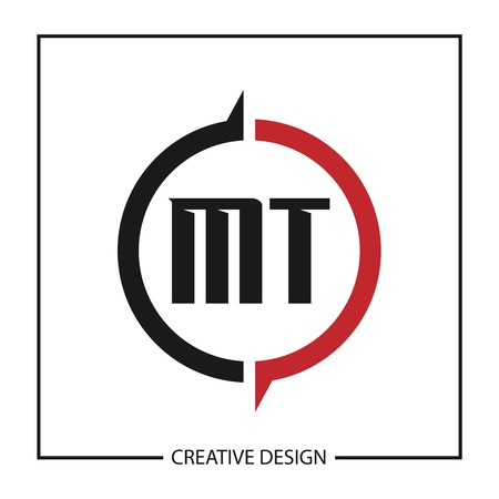 Initial Letter MT Logo Template Design Vector Illustration