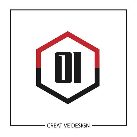 Initial Letter OI Logo Template Vector Design Ilustração