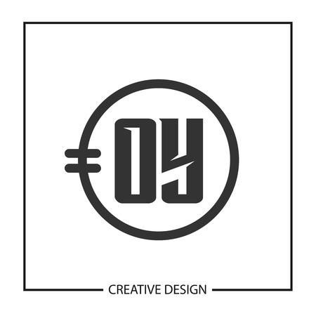 Initial Letter OY Logo Template Design Vector Illustration