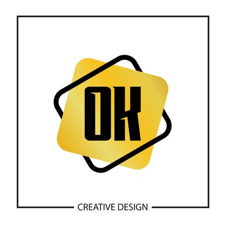 Initial Letter OK Logo Template Design Vector Illustration Logo