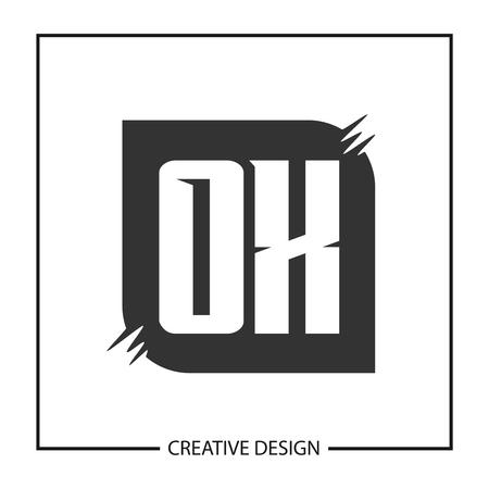 Initial Letter OX Logo Template Design Vector Illustration Illustration