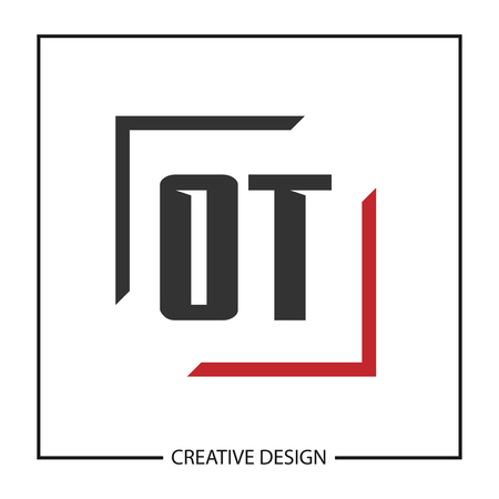 Initial Letter OT Logo Template Design Vector Illustration Иллюстрация