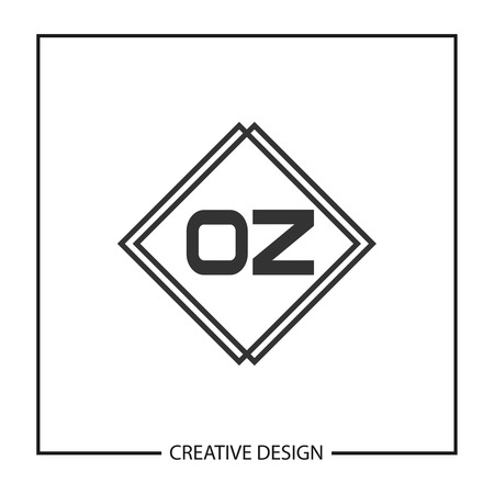 Initial Letter OZ Logo Template Design Vector Illustration Logo