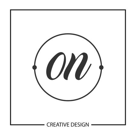 Initial Letter ON Logo Template Design Vector Illustration Ilustração