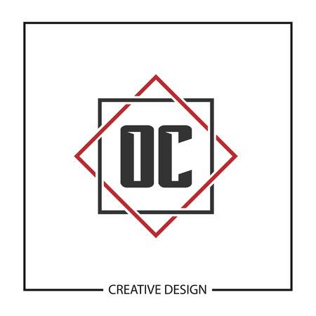 Initial Letter OC Logo Template Design Vector Illustration Logo
