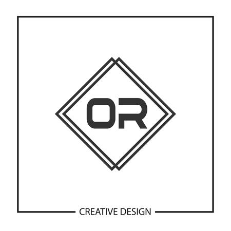 Initial Letter OR Logo Template Design Vector Illustration Ilustração