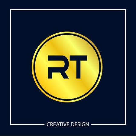 Initial Letter RT Logo Template Design Vector Illustration Logó