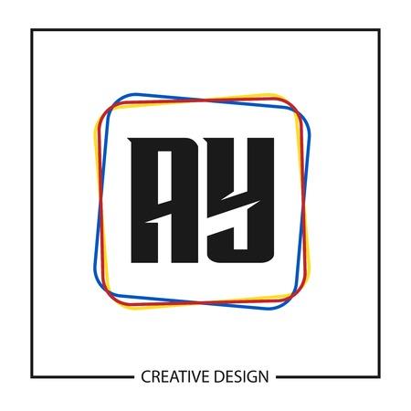 Initial Letter AY Logo Template Design Vector Illustration Stock Vector - 113001074
