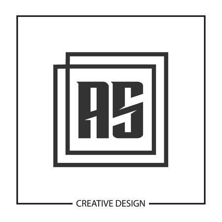 Initial Letter AS Logo Template Design Vector Illustration